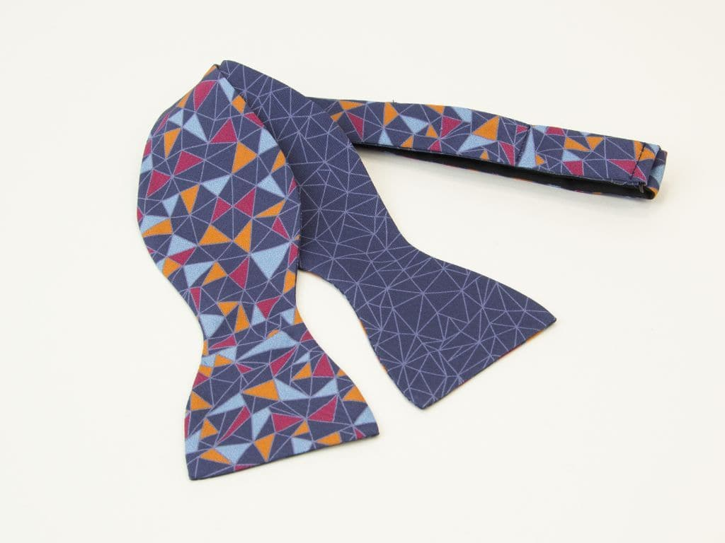 Mosaic Printed Butterfly Bow Tie