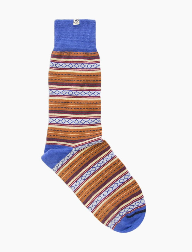 Detailed Striped Organic Cotton Socks