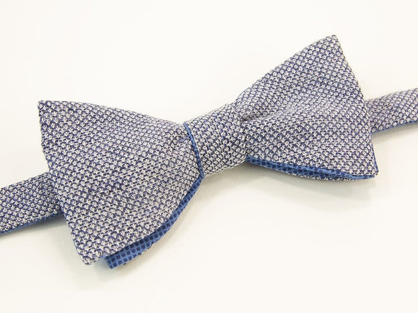 Dotted Linen Butterfly Bow Tie