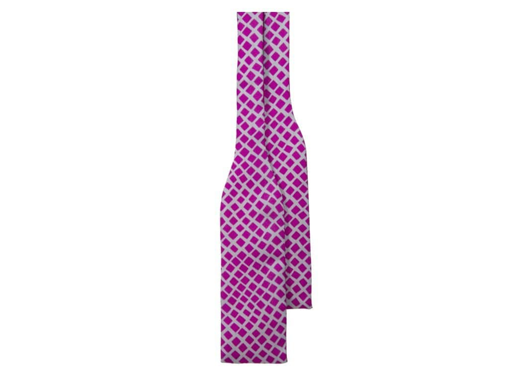 Square Net Printed Small Windsor Bow Tie