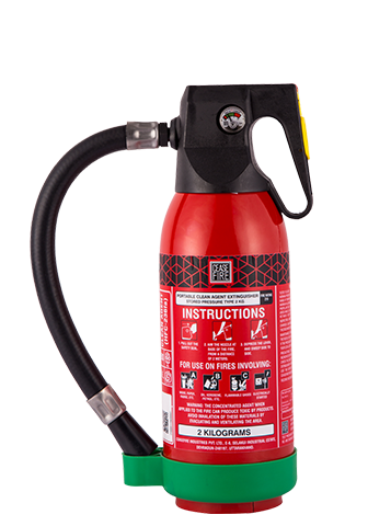 Ceasefire Clean Agent (HFC 236fa) Based Fire Extinguisher - 2Kg
