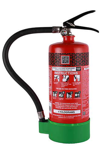 Ceasefire Clean Agent (HFC 236fa) Based Fire Extinguisher - 4 Kg