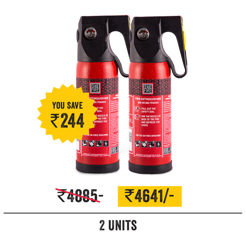Value Offer Pack - 2 Units of 500 Gms Extinguishers