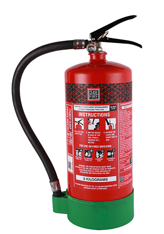 Ceasefire Clean Agent (HFC 236fa) Based Fire Extinguisher - 6 Kg