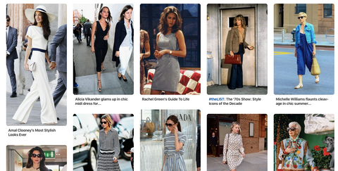 Create a personal style moodboard of style icons