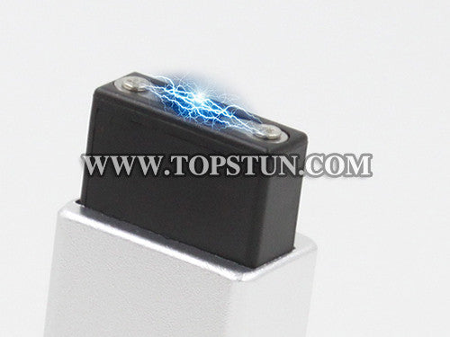 Mini Stun Gun 1502 Silver - 15 Million Volts Key Chainable LED Flashlight Rechargeable