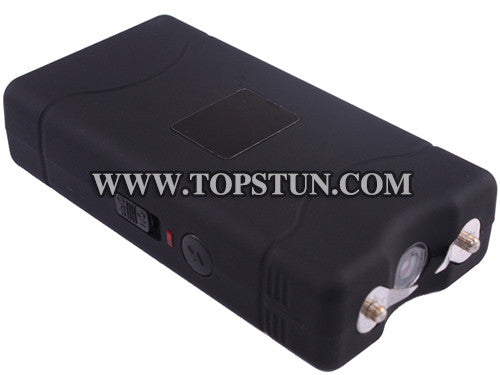 Mini Stun Gun 800 Black - 15 Million Volts Rechargeable LED Flashlight