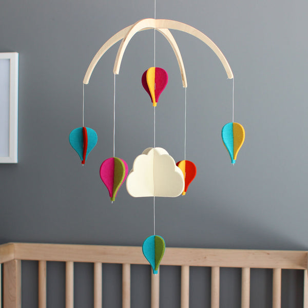 Baby Crib Mobile - Hot Air Balloon Mobile