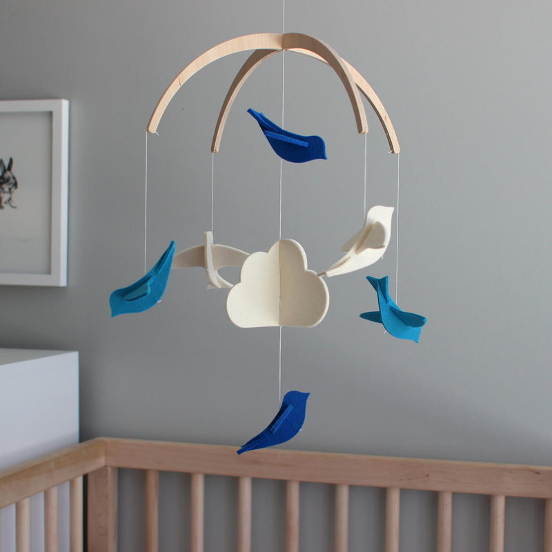 blue nursery mobile