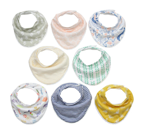 Darling Bandana Bib Set 8-Pack