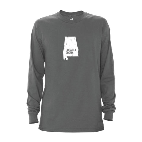 Men's Alabama Solid State Long Sleeve Crew