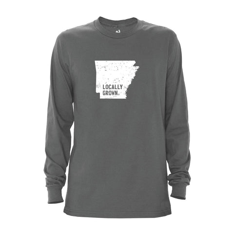 Locally Grown Clothing Co. Men's Arkansas Solid State Long Sleeve Crew