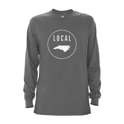 Locally Grown Clothing Co. Men's North Carolina Local Long Sleeve Crew