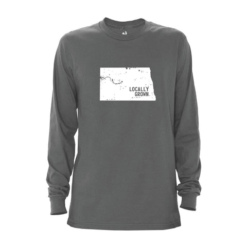 Locally Grown Clothing Co. Men's North Dakota Solid State Long Sleeve