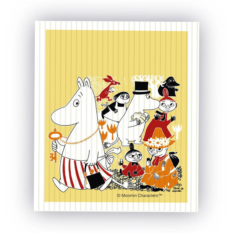 Moomin Shop Jubilee dish cloth - Limited edition - The Official Moomin Shop