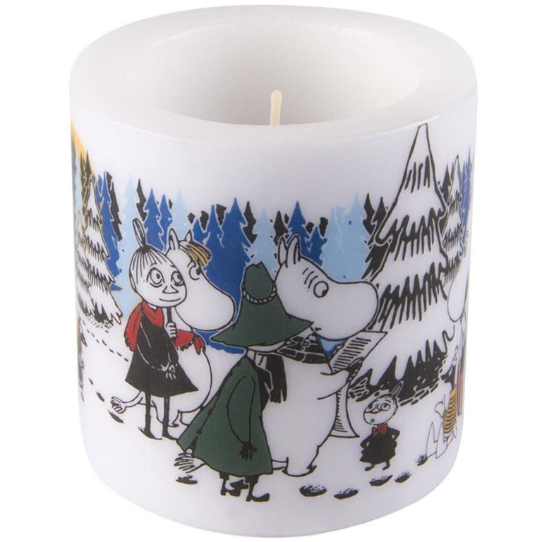 Moomin Winter Forest candle 8cm - Muurla - The Official Moomin Shop