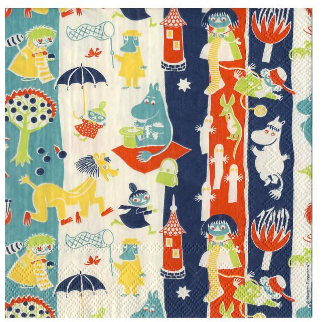 Moomin pattern napkins by Karto - The Official Moomin Shop