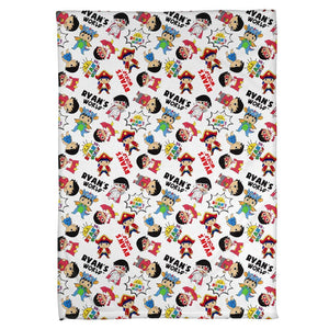 Ryan's World Characters Blanket