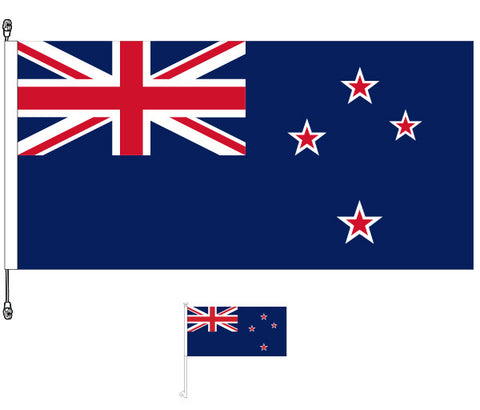 New Zealand Flag, Premium Long Life - Get a Free NZ Car Flag Worth $11.95!. SPECIAL OFFER!