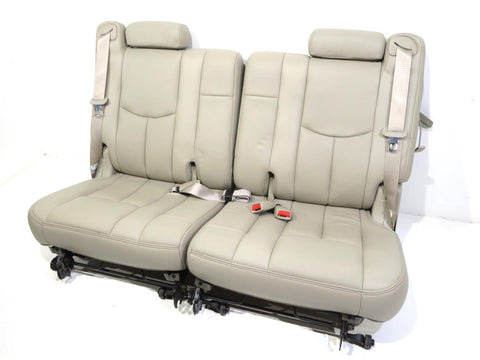 Oem Tahoe Escalade Yukon 3rd Third Row Shale Leather Seats 2000 - 2006