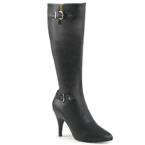 DREAM-2030 Pleaser Sexy Shoes 4 Inch Heel Stiletto Heel Buckle Detail Knee High Boot