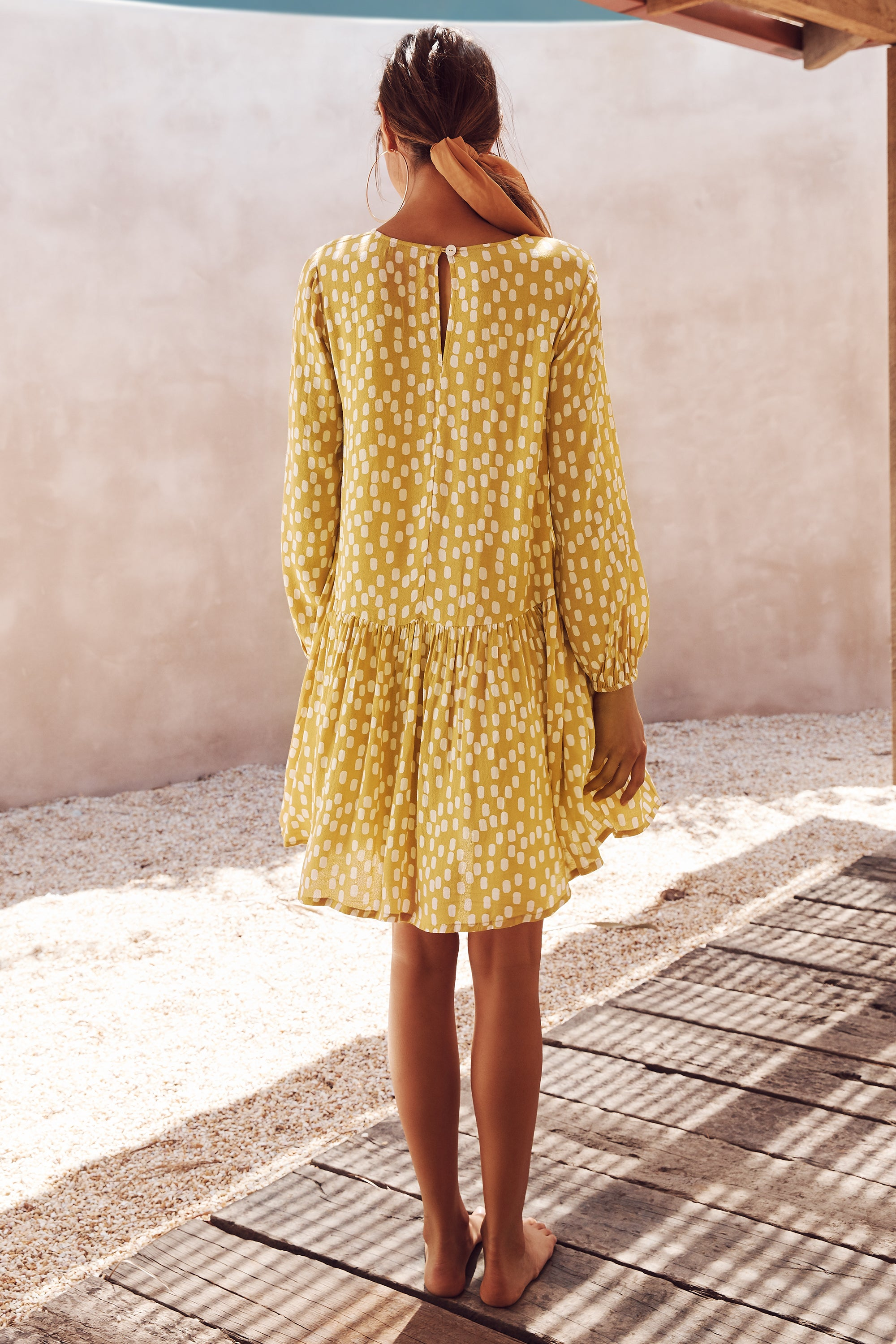 Elsa Dress In Chartreuse