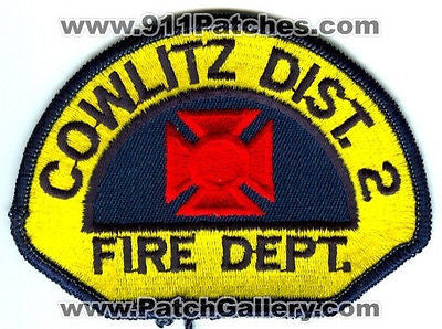Cowlitz County Fire District 2 Department Rescue EMS Patch Washington WA OLD - SKU61