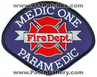 Pierce County Fire District 18 Medic One 1 Paramedic EMS Patch Washington WA - SKU150