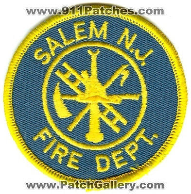 Salem Fire Department Dept SFD Rescue EMS Patch New Jersey NJ Patches OLD - SKU170