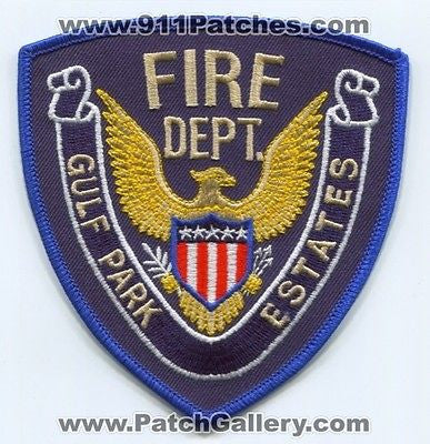 Gulf Park Estates Fire Department Dept GPEFD Rescue EMS Patch Mississippi MS