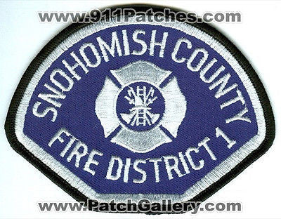Snohomish County Fire District 1 Department Rescue Patch Washington WA White - SKU173