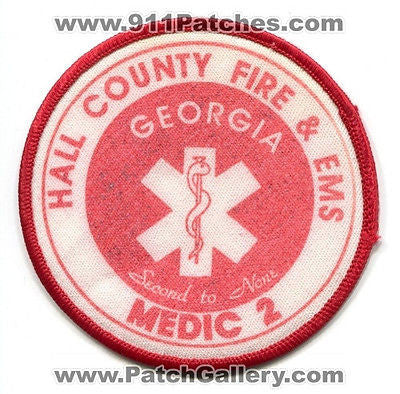 Hall County Fire and EMS Department Medic 2 EMS Dept Rescue Patch Georgia GA OLD - SKU81