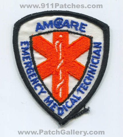 Amcare Emergency Medical Technician EMT EMS Patch Unknown State