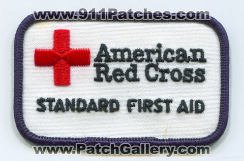 American Red Cross Standard First Aid EMS Patch No State Affiliation