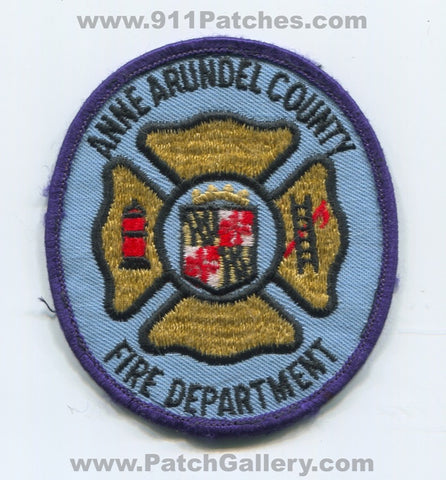 Anne Arundel County Fire Department Patch Maryland MD