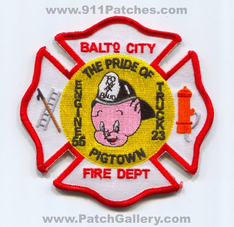 Baltimore City Fire Department Engine 55 Truck 23 Patch Maryland MD