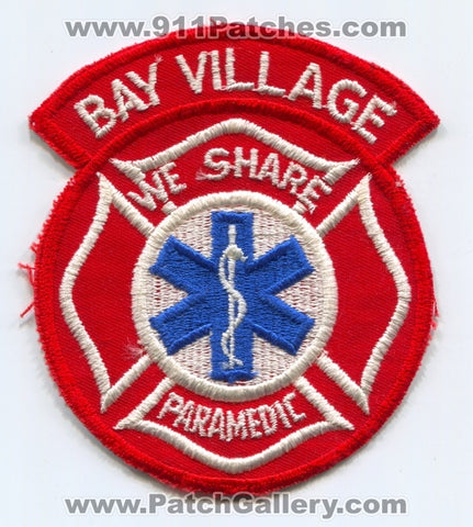 Bay Village Fire Department Paramedic Patch Ohio OH