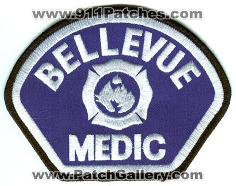 Bellevue Fire Department Medic EMS Patch Washington WA White USED SKU43
