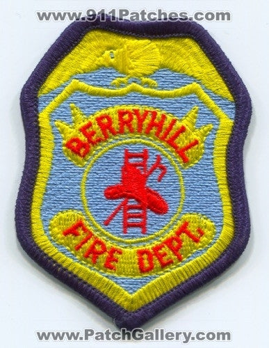 Berryhill Fire Department Patch Oklahoma OK