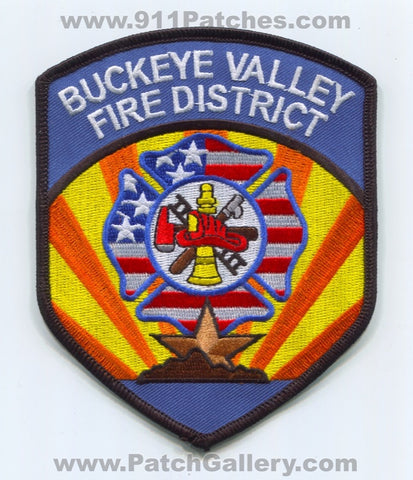 Buckeye Valley Fire District Department Patch Arizona AZ