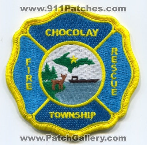 Chocolay Township Fire Rescue Department Patch Michigan MI