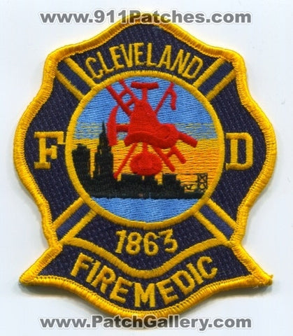 Cleveland Fire Department Firemedic Patch Ohio OH