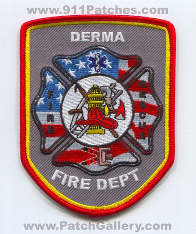 Derma Fire Rescue Department Patch Mississippi MS