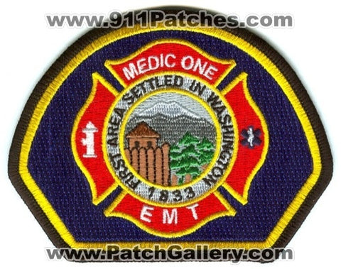 Dupont Fire Department Medic One EMT EMS Patch Washington WA