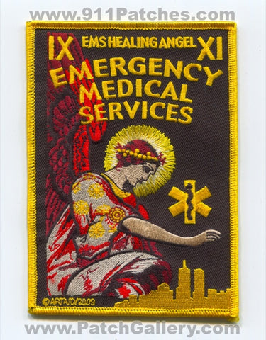 EMS Healing Angel Emergency Medical Services Patch New York NY