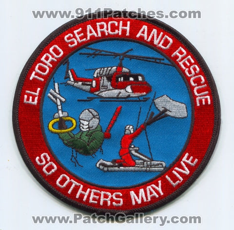 Marine Corps Air Station MCAS El Toro Search and Rescue SAR Patch California CA