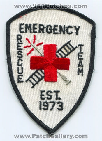 Emergency Rescue Team EMS Patch Unknown State