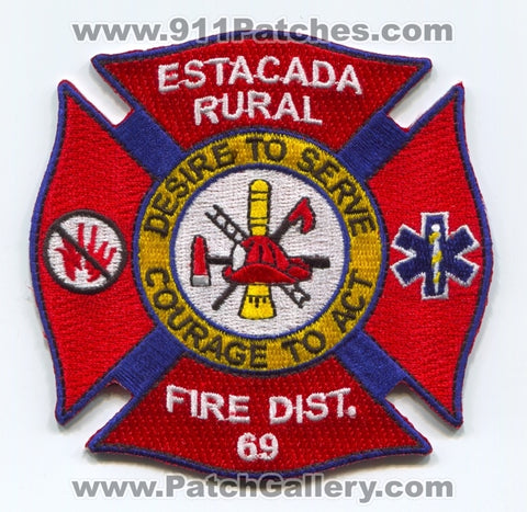 Estacada Rural Fire District 69 Patch Oregon OR