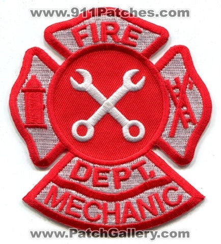 Fire Department Mechanic Patch No State Affiliation