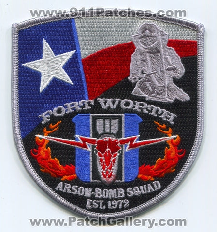 Fort Worth Arson Bomb Squad Fire Police Department Patch Texas TX